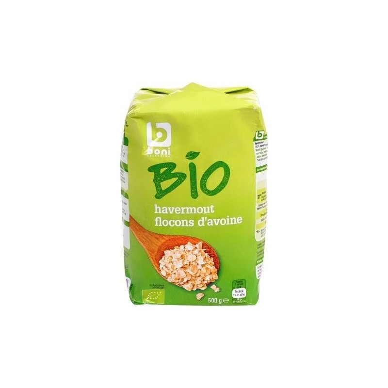 Boni Selection flocons avoine bio 500 gr CHOCKIES