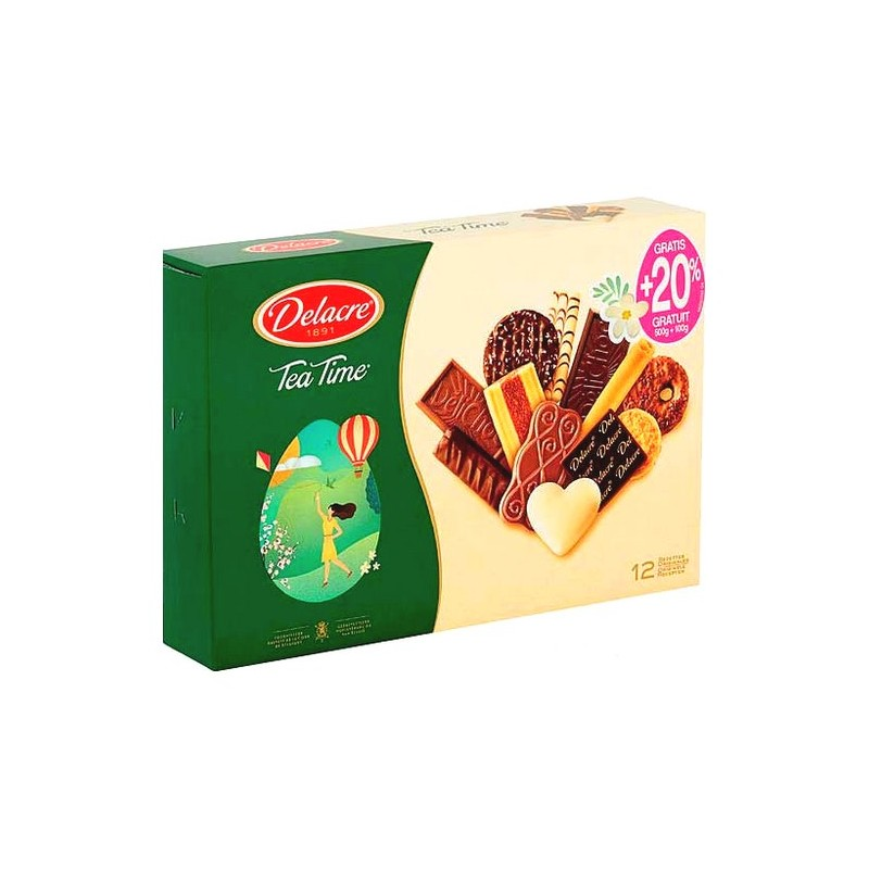 Delacre Tea time tradition biscuits 500 gr + 20% free