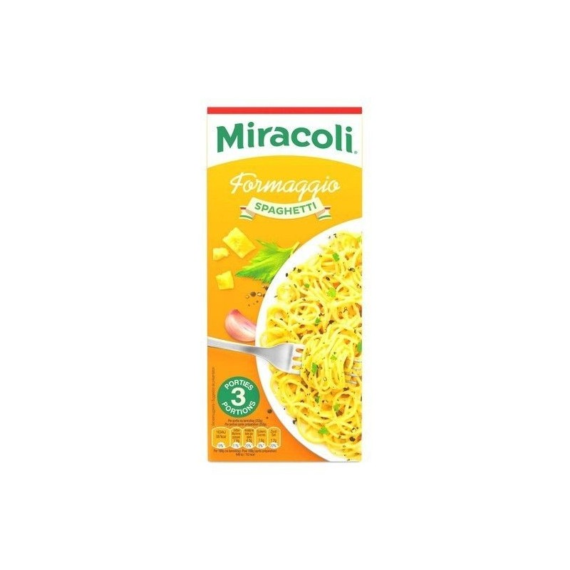 Miracoli spaghetti fromage 3 portions 304 gr CHOCKIES