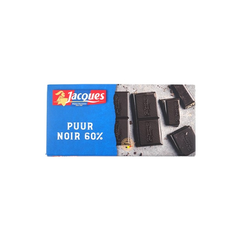 Jacques Dark 60% chocolate tablet 180 gr