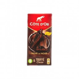 Cote d'Or black tablet with cocoa truffle 190 gr