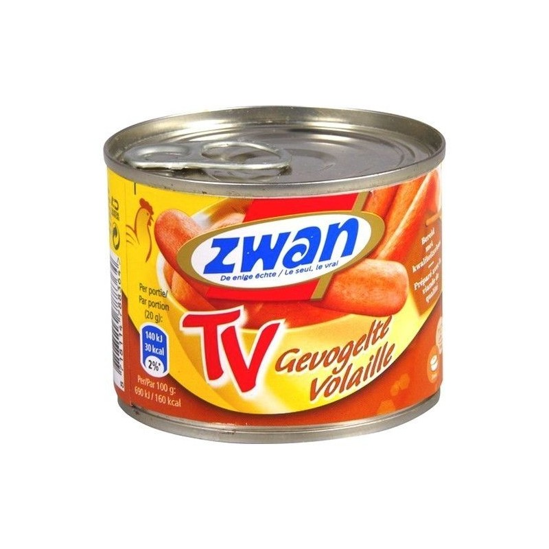 Zwan TV poultry sausage 205 gr EPICERIE CHOCKIES