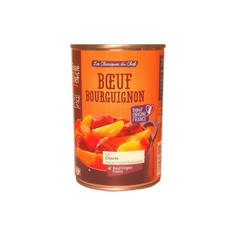 LF/ Toque du Chef boeuf bourgignon 400 gr CHOCKIES