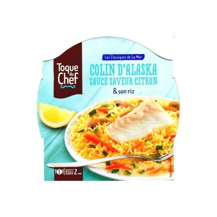 LF/ Toque du Chef colin Alaska sauce citron riz 300 gr CHOCKIES