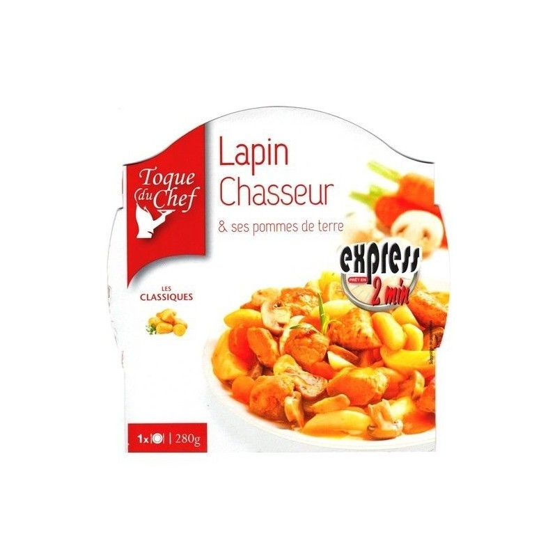 LF/ Toque du Chef lapin chasseur pdt 280 gr CHOCKIES