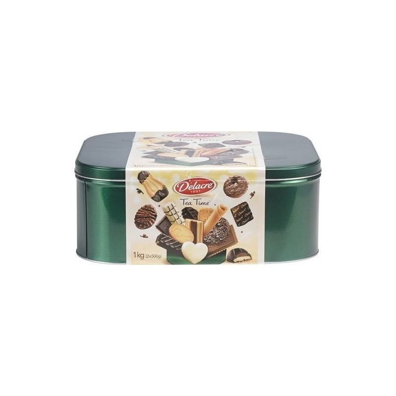 Delacre Tea time mélange biscuits 1 kg - CHOCKIES belge