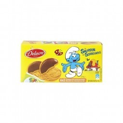 Delacre Smurfs milk chocolate biscuits 150gr CHOCKIES
