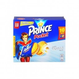 LU Prince pocket vanille (10x2 biscuits) 400 g CHOCKIES