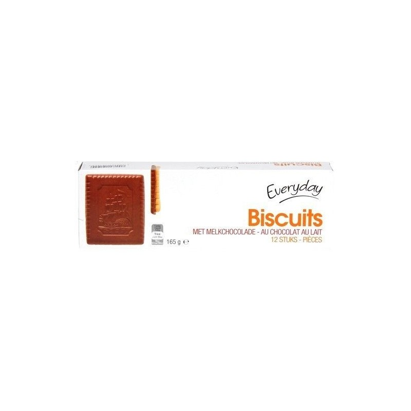 Everyday 12 biscuits chocolat lait 165 gr CHOCKIES