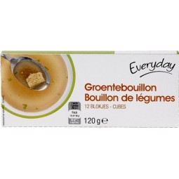 EVERYDAY bouillon légumes 12x10gr - EPICERIE CHOCKIES