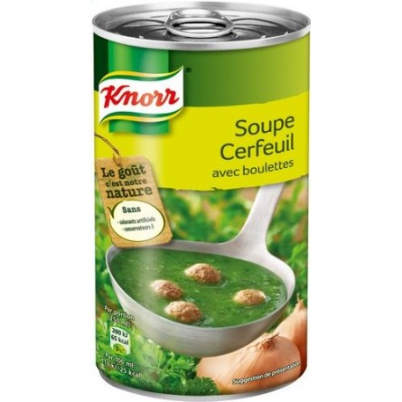 Knorr cerfeuil boulettes 515ml - soupe boite chockies