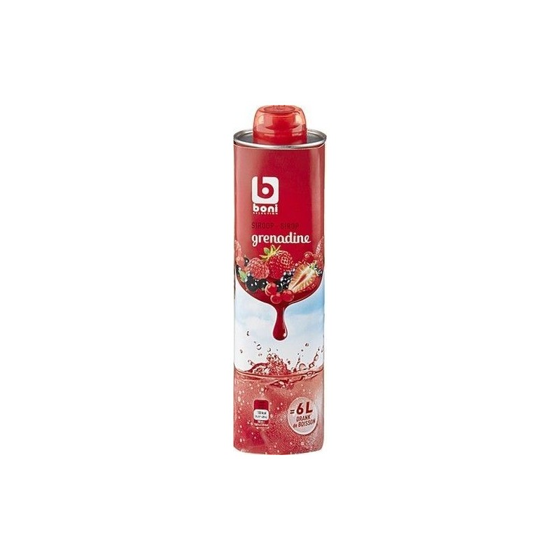 Boni Selection sirop grenadine 75cl - épicerie chockies
