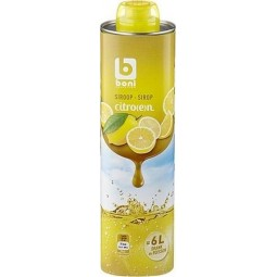 Boni Selection sirop citron 75cl - épicerie chockies