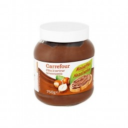 Carrefour pâte à tartiner noisettes 750 gr CHOCKIES