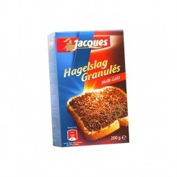 Jacques granules vermicelli chocolate milk 200 gr CHOCK