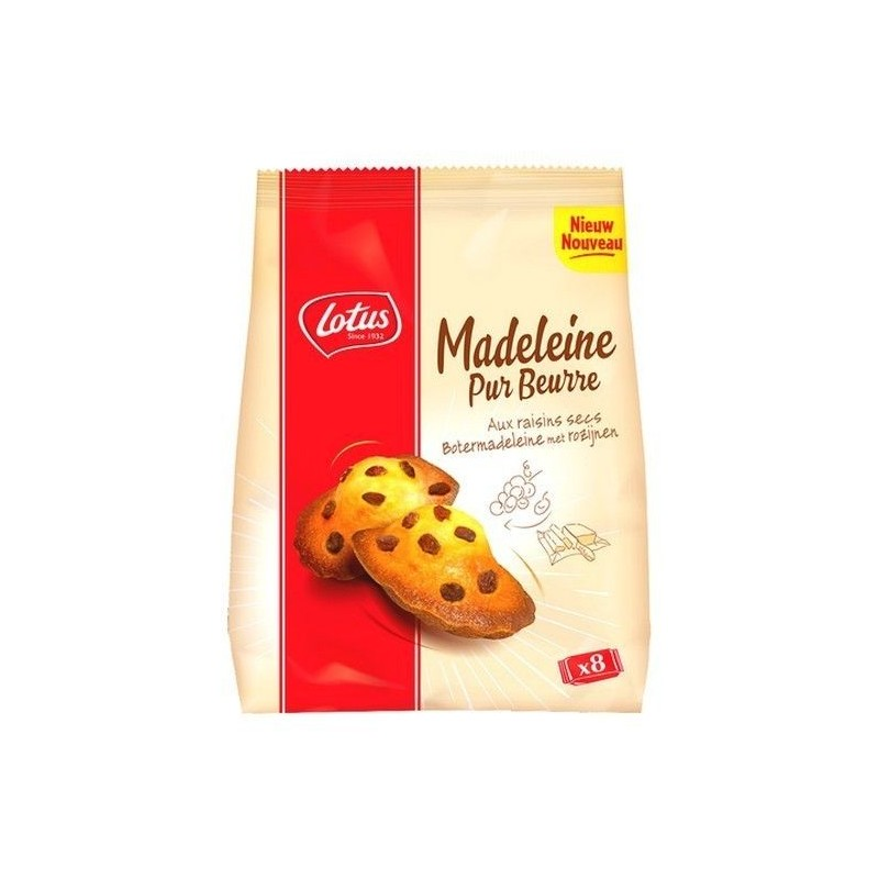 Lotus 8 madeleines pure butter raisins 248 gr CHOCKIES