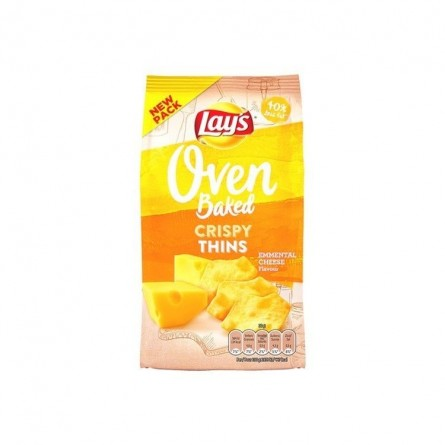 Lay's Oven Crispy Thins emmental 90 gr CHOCKIES chips