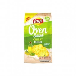 Lay's Oven Crispy Thins huile d'olive herbes 90 gr CHOCKIES
