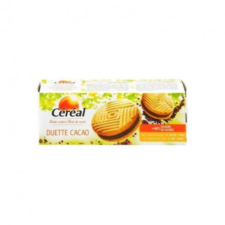 Cereal biscuit duette cacao au maltitol 150 gr CHOCKIES