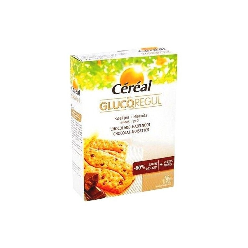 Cereal Glucoregul biscuit choc. nois. 150 gr CHOCKIES