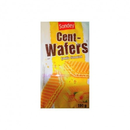 L/ Sondey gaufrettes Cent wafers vanille 190 g CHOCKIES