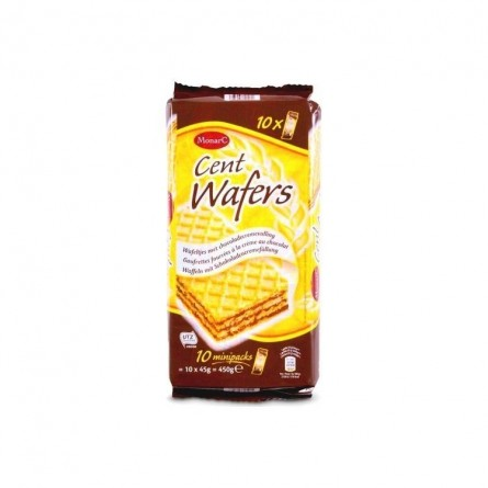 A/ Monarc Cent Wafers 10x 45 gr Chockies épicerie belge