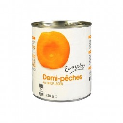 Everyday demi pêches sirop 820 gr EPICERIE CHOCKIES