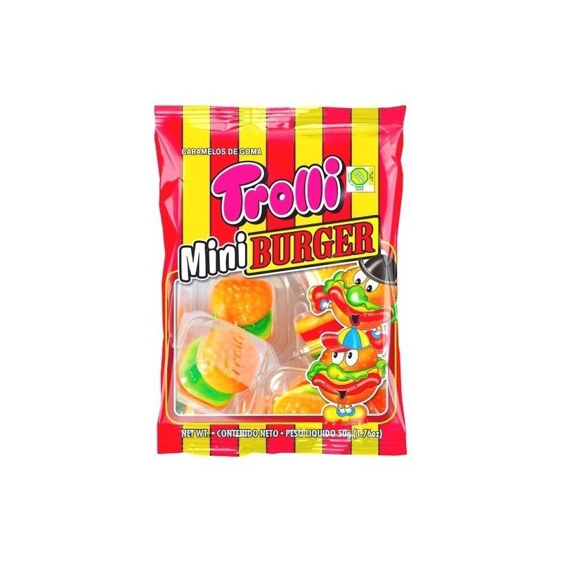 Trolli Mini Burger 100 gr ÉPICERIE BELGE CHOCKIES
