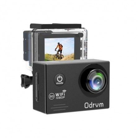 ODRVM - 2.0-Inch WiFi 12MP Sports Action Waterproof Camera, HD 1080P