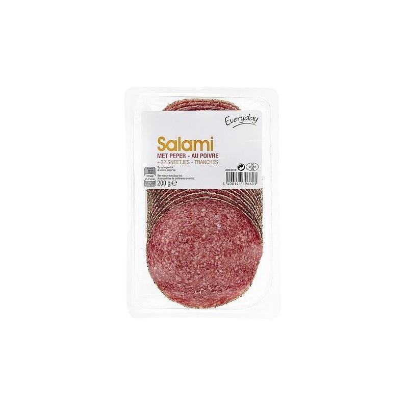 Everyday salami poivre tranches 200 gr