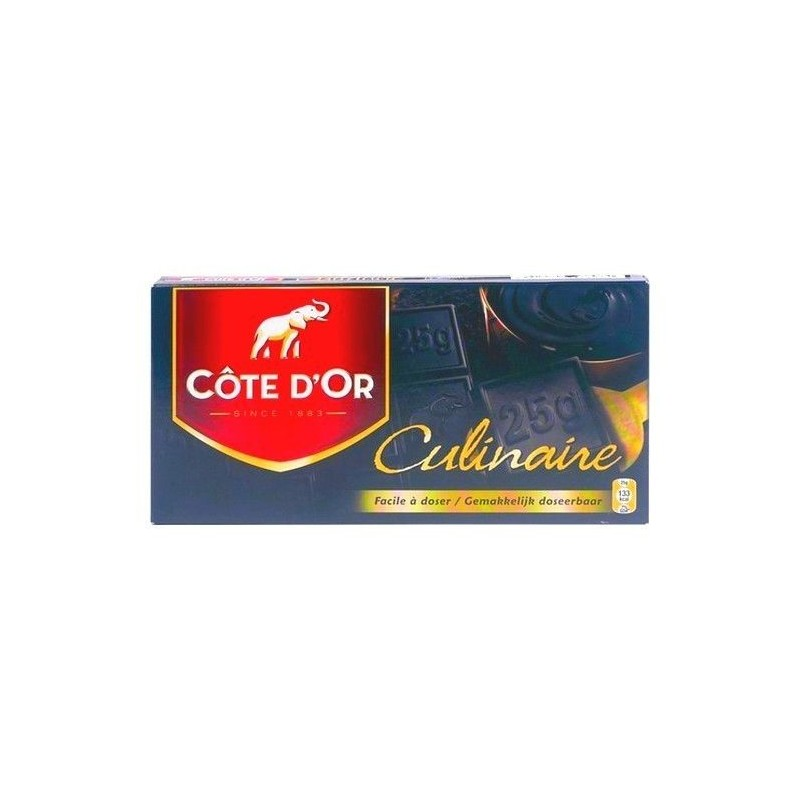 Cote d'Or culinary dark chocolate tablet 400 gr CHOCKIES