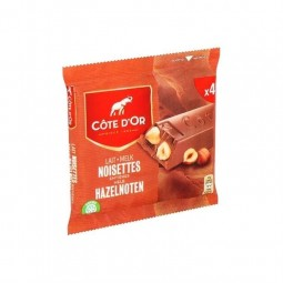 Cote d'Or milk chocolate bars hazelnut 4x 45 gr CHOCKIES