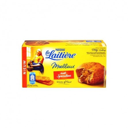 La Laitiere moelleux (soft) with speculoos 2x 85 gr