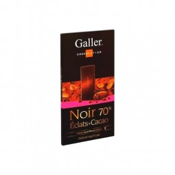 Galler tablette noir 70% éclats de cacao 80 gr CHOCKIES