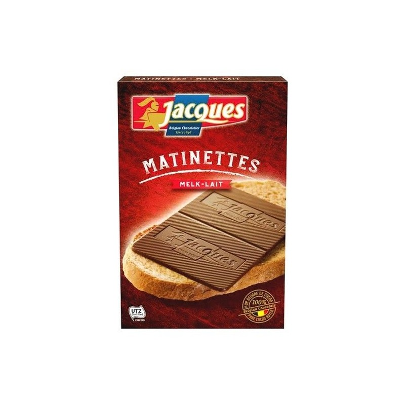 Jacques Matinette milk chocolate thins 128 gr