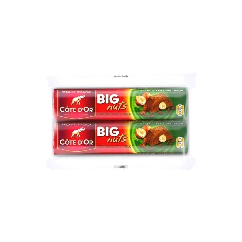 Côte d'Or Big Nuts lait 2x 75 gr CHOCKIES CHOCOLAT BARS