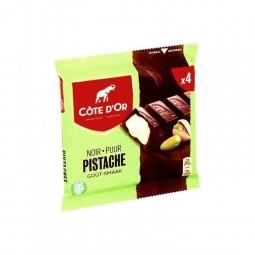 Cote d'Or dark chocolate bars pistachos 4x 47 gr CHOCKIE
