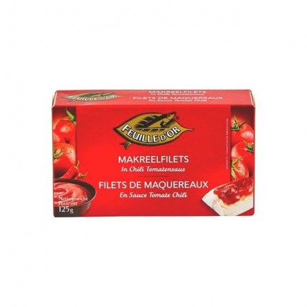 Feuille d'Or maquereau tomate chili MSC 125 gr