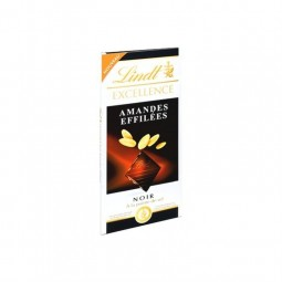 FR/ Lindt Excellence noir amande effilée 100 g CHOCKIES