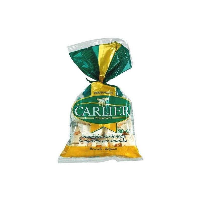Carlier hard nougat with almonds 200 gr
