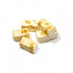 hard nougat with almonds