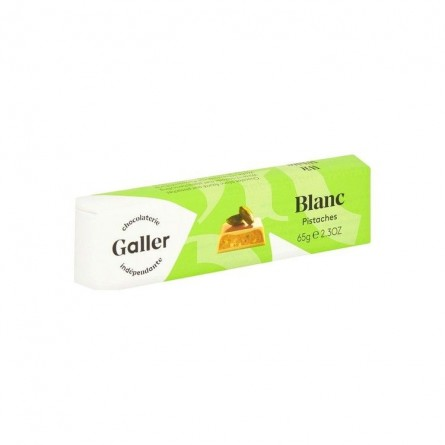 Galler white chocolate with pistachios 65 gr