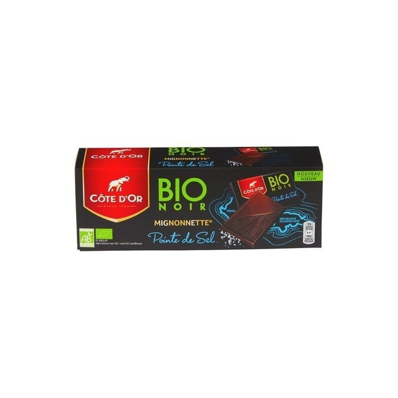 Côte d'Or BIO mignonnette pointe sel 180 gr CHOCKIES