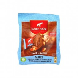 Côte d'Or Carré lait amande pointe sel 180 gr CHOCKIES