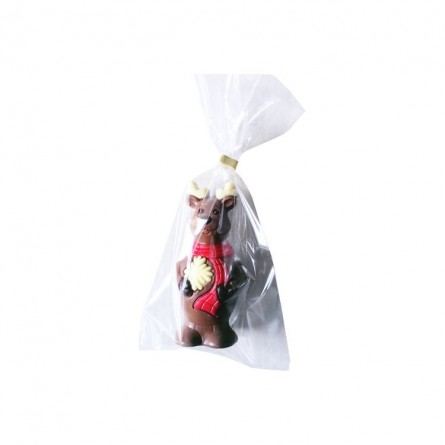 Elk (reindeer) in decorated milk chocolate 12 cm 50 gr