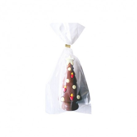 Christmas tree decorated in decorated milk chocolate 12 cm 50 gr
