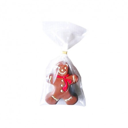 Gingerbread man in decorated milk chocolate 10 cm 60 gr
