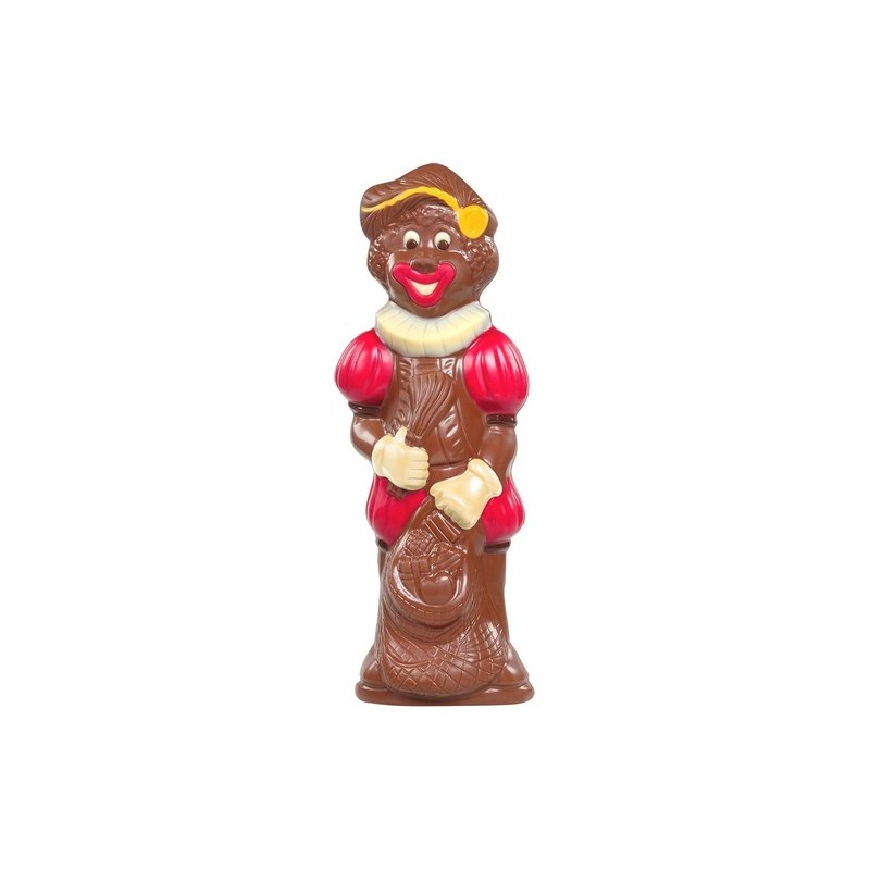 Father Fouettard smiling in decorated milk chocolate 25 cm 250 gr