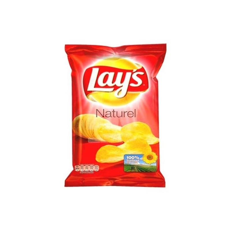 Lay's chips naturel 20x 45 gr EPICERIE BELGE CHOCKIES