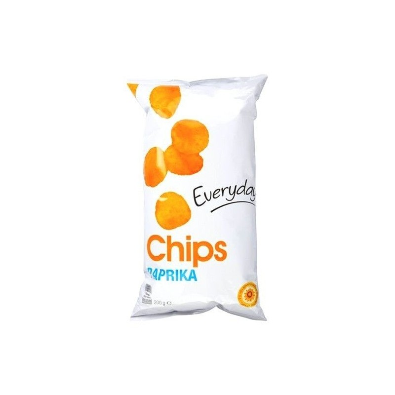 Everyday chips paprika 200 gr EPICERIE BELGE CHOCKIES